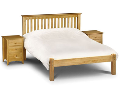 Julian Bowen Barcelona 4FT 6 Double Wooden Bedstead - Pine