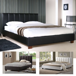 Limelight Pulsar 4FT Small Double Leather Bed