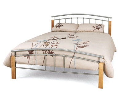 Serene Tetras 3FT Single Metal Bedstead - Silver
