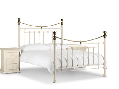 Julian Bowen Victoria 5FT Kingsize Metal Bedstead