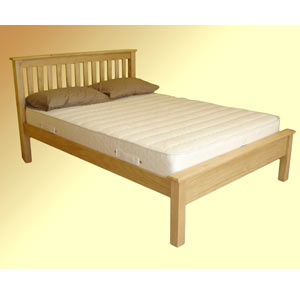 Paul Maxfield Shaker 5FT Kingsize Bedstead - Low Footend - Natural