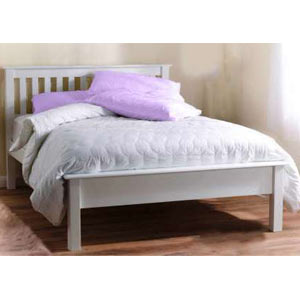 Paul Maxfield Shaker 4FT Small Double Bedstead - Low Footend - White