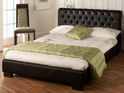 Limelight Aries 4FT 6 Double Faux Leather Bedstead