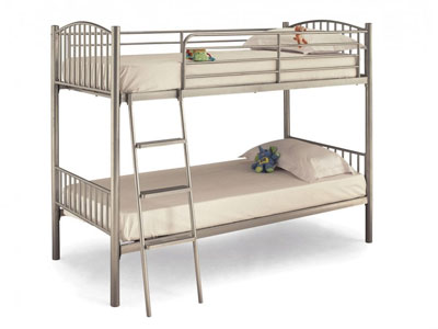 Serene Oslo  Metal Bunk Bed - Silver