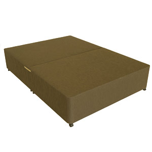 Star-Ultimate (Base Only) Sleepstar 4FT Small Double Divan Base - Dark Brown Chenille