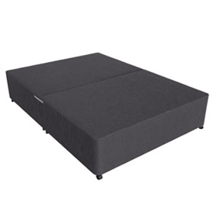 Star-Ultimate (Base Only) Sleepstar 4FT Small Double Divan Base - Charcoal Chenille