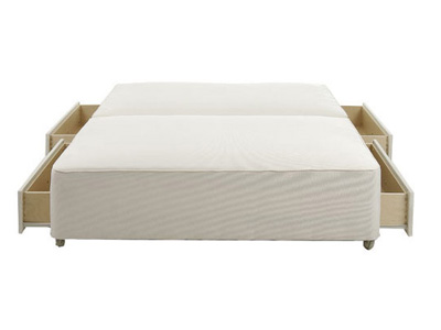 Star-Ultimate Sleepstar 2FT 6 Small Single Divan Base - Off-White
