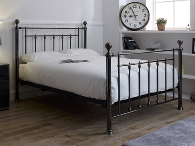 Limelight Libra 4FT 6 Double Metal Bedstead - Black Chrome