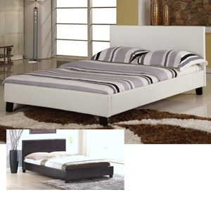 Harmony Venice 4FT Small Double Leather Bedstead