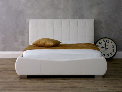 Limelight Dorado 4FT 6 Double Leather Bed - White