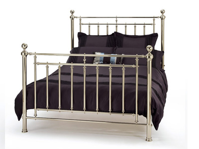 Serene Soloman 6FT Superking Metal Bedstead - Nickel