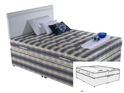 Shire Beds Ortho Cheshire 5FT Kingsize Zip & Link Divan Bed