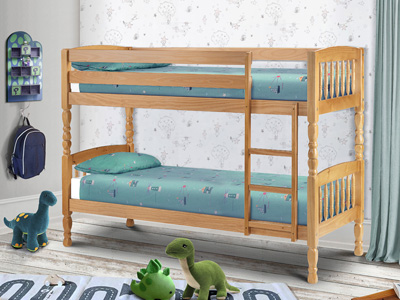 Julian Bowen Lincoln 2FT 6 Small Single Bunk Bed