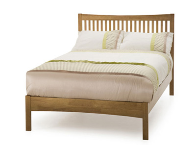 Serene Mya 4FT Small Double Wooden Bedstead - Oak