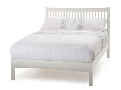Serene Mya 4FT Small Double Wooden Bedstead - White