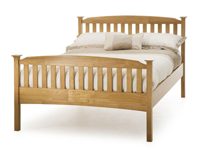 Serene Eleanor 3FT Single Wooden Bedstead - Oak - High Footend
