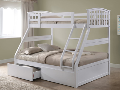 The Naples Bed Company WB2015 Three Sleeper Bunk Bed - White