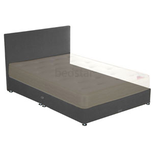 Star-Ultimate Sleepstar 4FT Small Double Shallow Divan Base - Charcoal Chenille