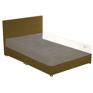 Star-Ultimate Sleepstar 4FT Small Double Shallow Divan Base - Dark Brown Chenille