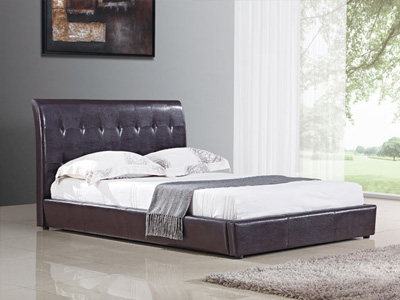 Harmony Beds Siena 4FT 6 Double Leather Bedstead