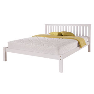Airsprung Beds Napoli White 4FT 6 Double Wooden Bedstead