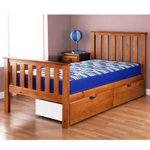 Airsprung Beds Napoli Cinnamon 3FT Single Wooden Bedstead