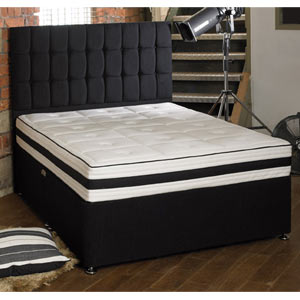 Shire Beds ACTIVE Latex Core 7 Zone Medium 5FT Kingsize Divan Bed