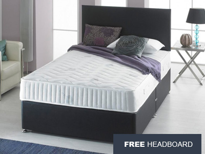 Giltedge Beds Visco Bonnell 4FT 6 Double Divan Bed - Free Headboard