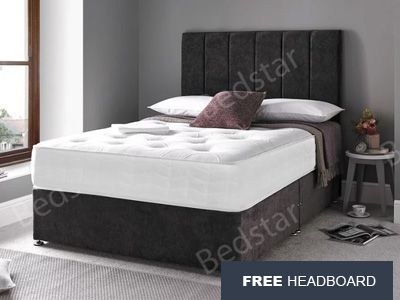 Giltedge Beds Balmoral 5FT Kingsize Divan Bed - Free Headboard