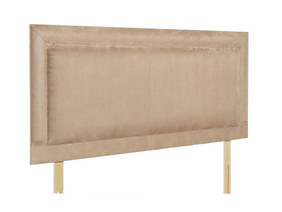 Giltedge Beds Charlie Tan 4FT 6 Double Fabric Headboard
