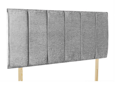 Giltedge Beds Oxford Grey 4FT 6 Double Fabric Headboard