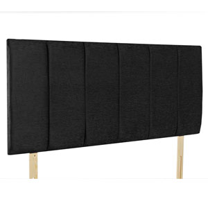 Giltedge Beds Oxford Black 5FT Kingsize Fabric Headboard