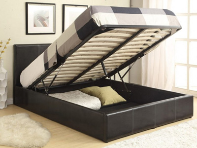 Star Ultimate Abby  Ottoman Bed  - Black