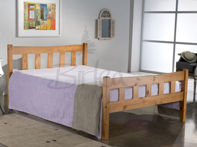 Birlea Miami 4FT 6 Double Wooden Bedstead