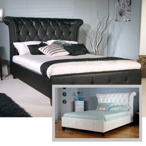 Limelight Epsilon 4FT 6 Double Leather Bed