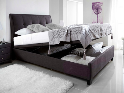 Kaydian Design Accent  Fabric Ottoman Bed  - Slate