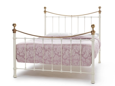 Serene Ethan Ivory 6FT Superking Metal Bedstead