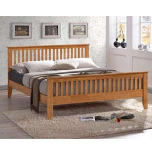 Time Living Turin  Wooden Bed