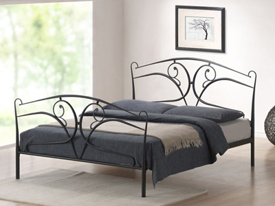 Time Living Seline 5FT Kingsize Metal Bedstead
