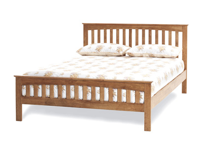 Serene Amelia Oak 5FT Kingsize Wooden Bedstead