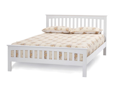 Serene Amelia White  Wooden Bedstead