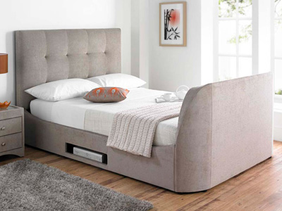 MW Kaydian Design Walkworth 4FT 6 Double TV Bed - Mink