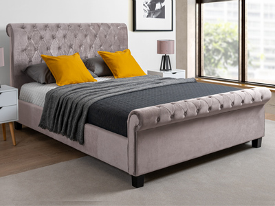 Limelight Beds Orbit 5FT Kingsize Fabric Bedstead - Mink