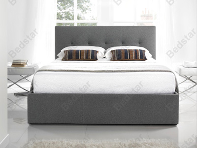 Kaydian Design Hexham 5FT Kingsize Fabric Bedframe - Grey