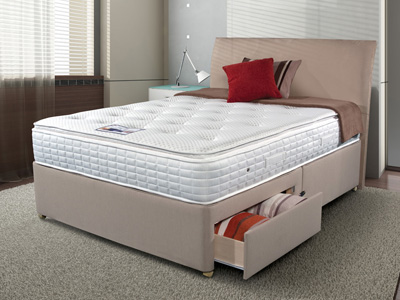 Sleepeezee Cool Sensations 2000 4FT 6 Double Divan Bed