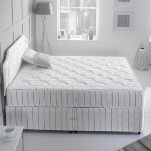 Giltedge Beds Red Stripe 5FT Kingsize Divan Bed