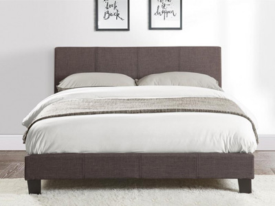 Birlea Berlin 5FT Kingsize Fabric Bedframe - Grey