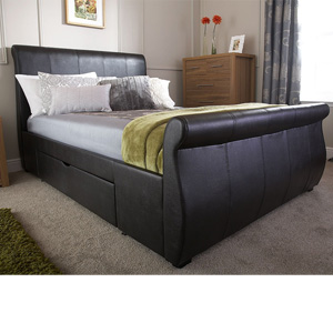 Milan Bed Company Alabama 5FT Kingsize Leather Bedstead