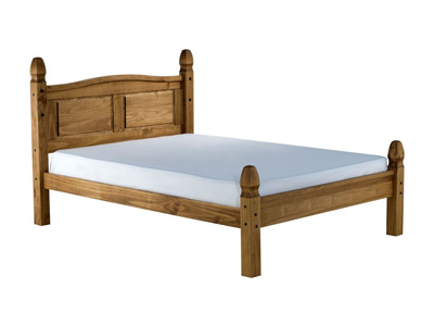 Birlea Corona 4FT 6 Double Wooden Bedstead - Low footend