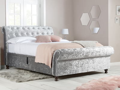 Birlea Castello  Fabric Bed  - Steel